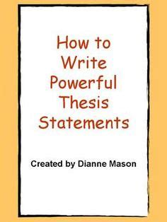 Simple Thesis Creator Simple Thesis Statement Generator - FREE